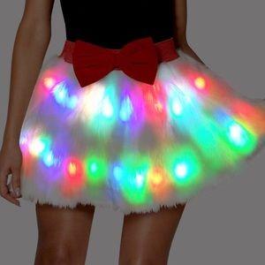 Dresses & Skirts - Ugly Christmas sweater party Skirt Flashin Lights